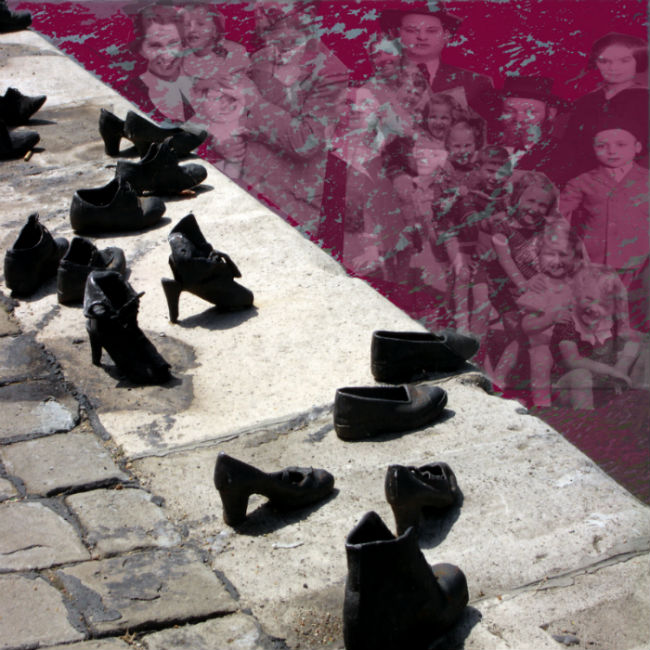 Gyula Pauer designed the Danube-side Holocaust Monument dedicated to the thousands of Budapest Jews who were shot  on the banks and then thrown into the river by the Hungarian fascist Arrow Cross regime. The powerful monument consists of  60 pairs of iron shoes lined up, empty,  on the edge of the embankment.